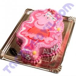 Tarta con Forma de PEPPA PIG