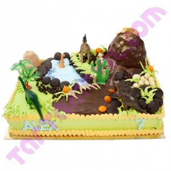 Tarta infantil de Dinosaurios