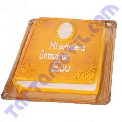 Tarta de Comunión en forma de Libro