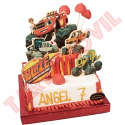 Tarta de BLAZE   Monster Machines