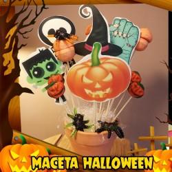 Maceta de Piruletas de Halloween