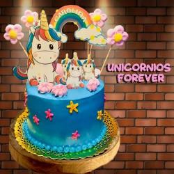 Tarta Unicornio arco iris