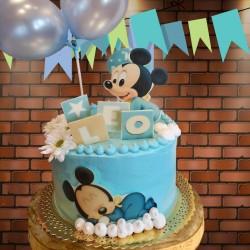Tarta de Mickey Bebé durmiendo