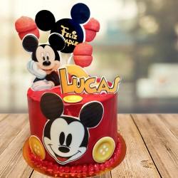 Tarta de Mickey roja