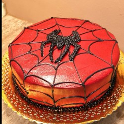 Tarta Spiderman telaraña