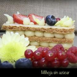 Milhojas decoradas sin azúcar