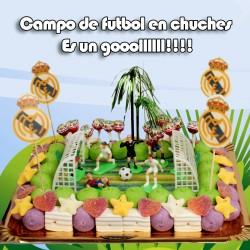 Tarta de gominolas, campo de futbol
