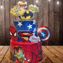 Tarta Especial de los superheroes