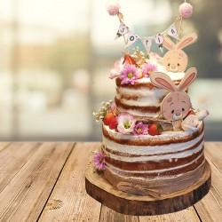 Naked cake modelo conejitos