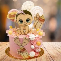 tarta modelo Bebé rosa